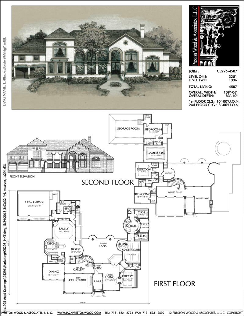 Two Story Home Plan C5296