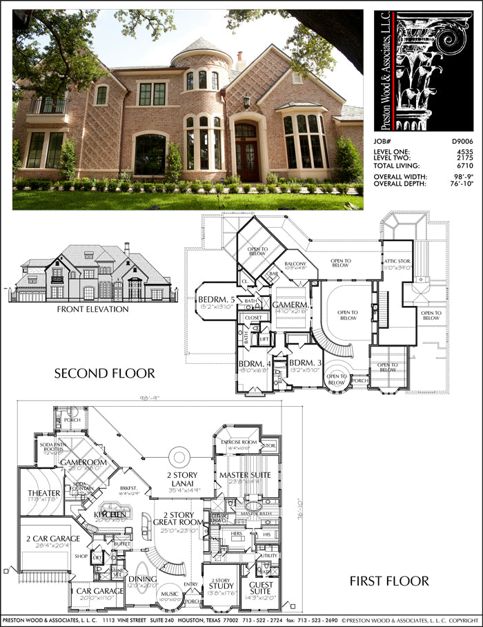 Two Story House Plan D9006