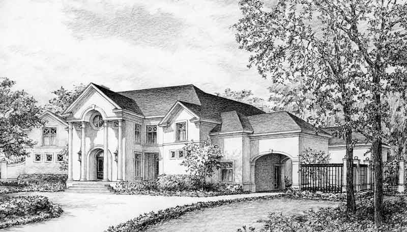 Two Story House Plan C5166