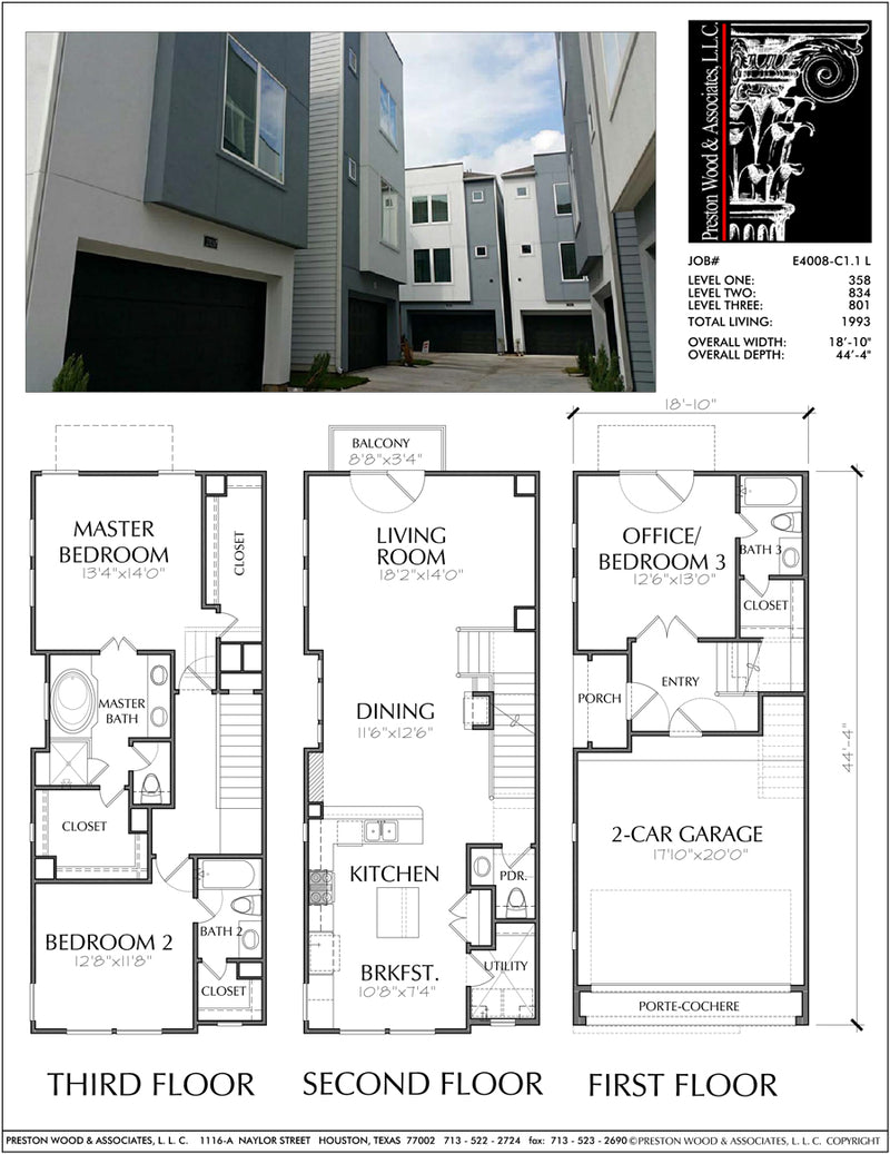 Townhouse Plan E4008 C1.1