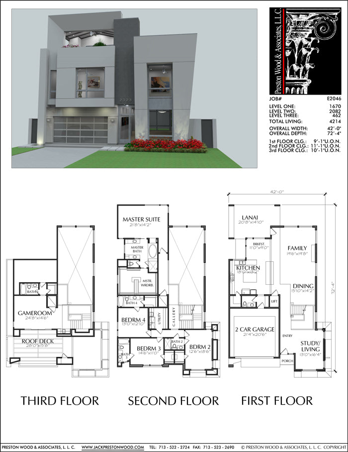 Urban House Plan E2046