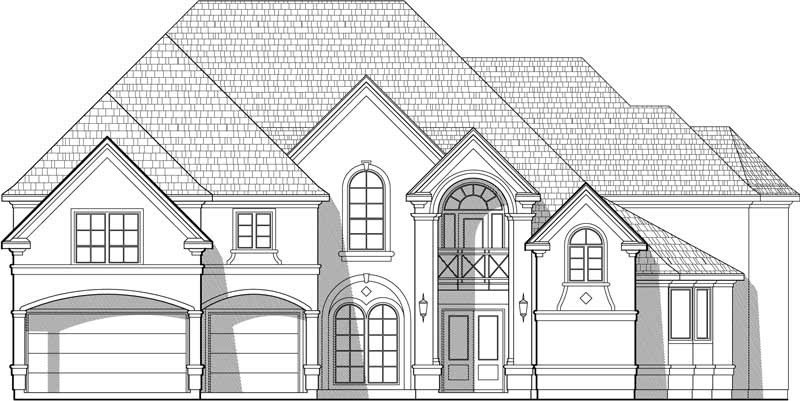 Two Story House Plan C8190