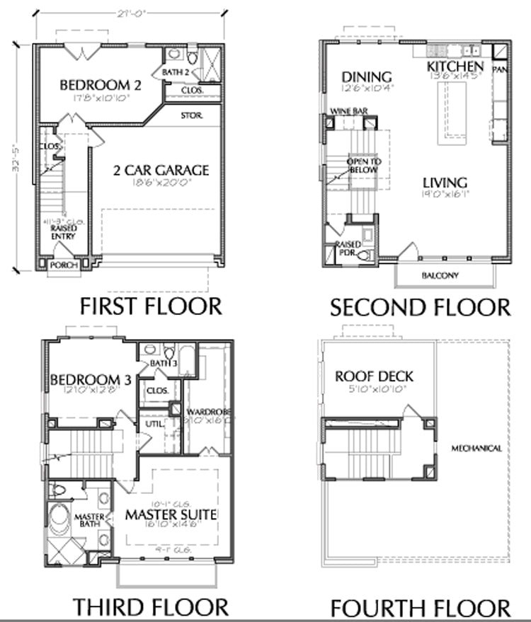 Townhouse Plan E2117 A1.2L