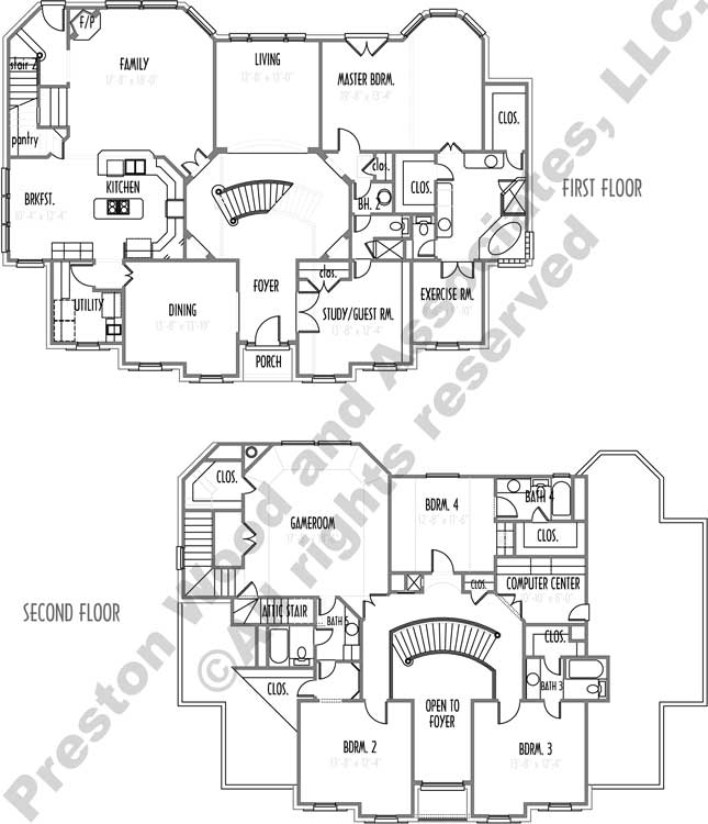 Two Story House Plan C7049