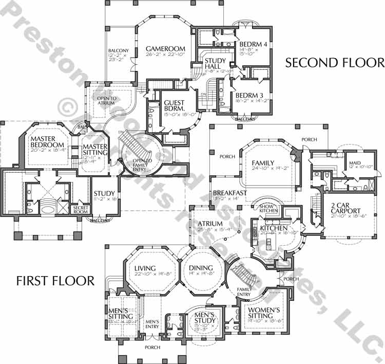 Two Story House Plan C8023