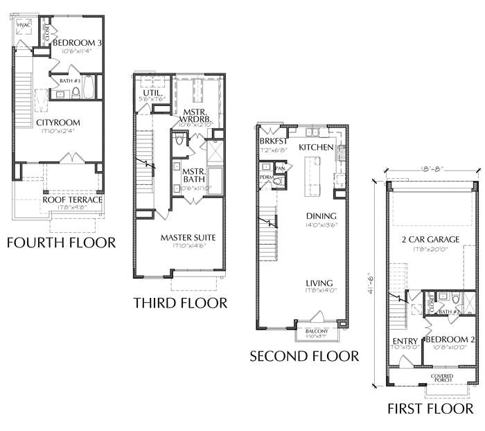 Townhouse Plan E2237 B2.1