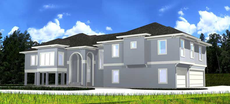 Two Story House Plan D4175