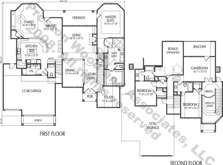 Two Story House Plan D0003