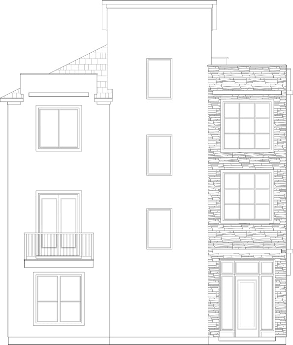 Townhouse Plan D5220 U1