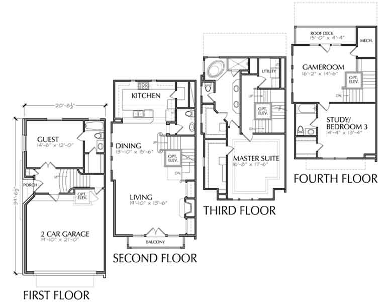Duplex Townhouse Plan D5130 C7 & C8