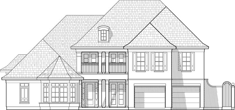 Two Story House Plan C7161
