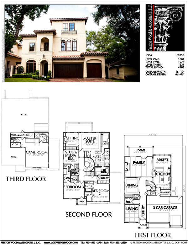 Urban House Plan E1053