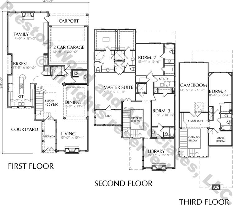 Two Story Home Plan D0324