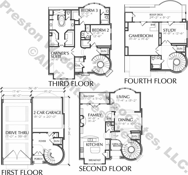 Duplex Townhouse Plan D5130 A1