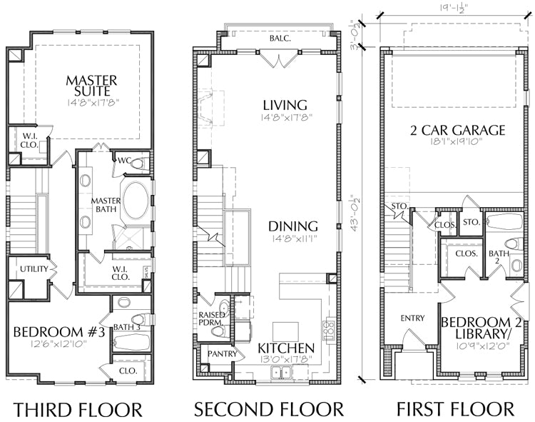 Townhouse Plan E2207 A1.1