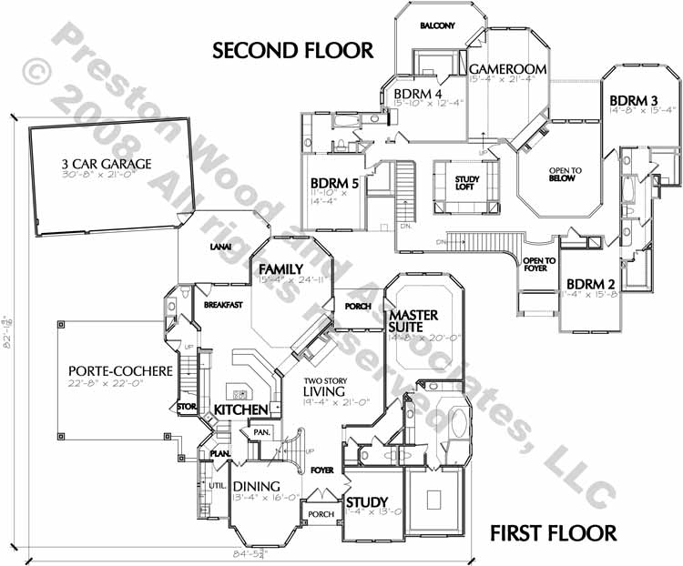 Country Style Home Plan C4174