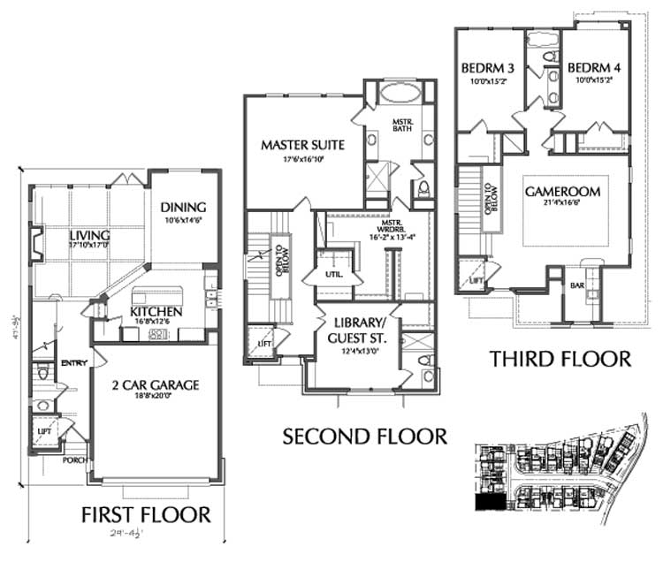 Townhouse Plan D9095 A4 LOT-6