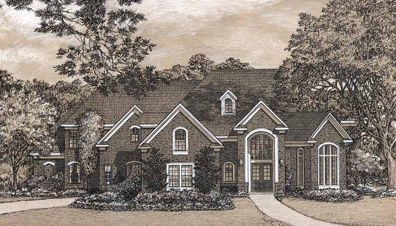 Traditional Style House Plan C9313