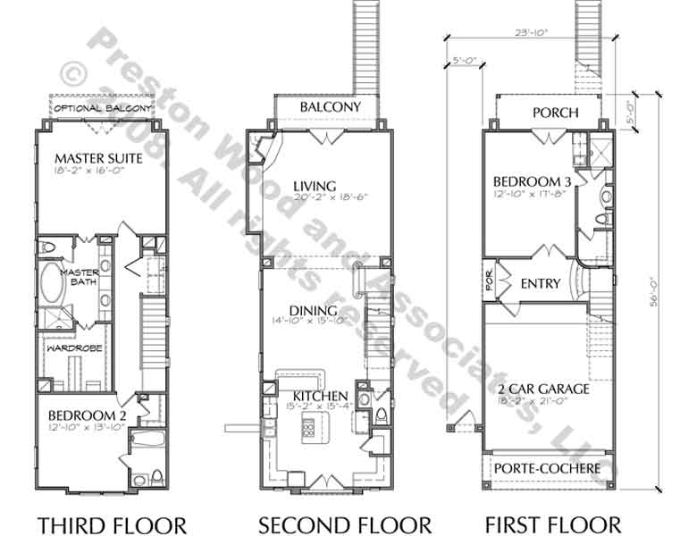 Townhouse Plan D3025