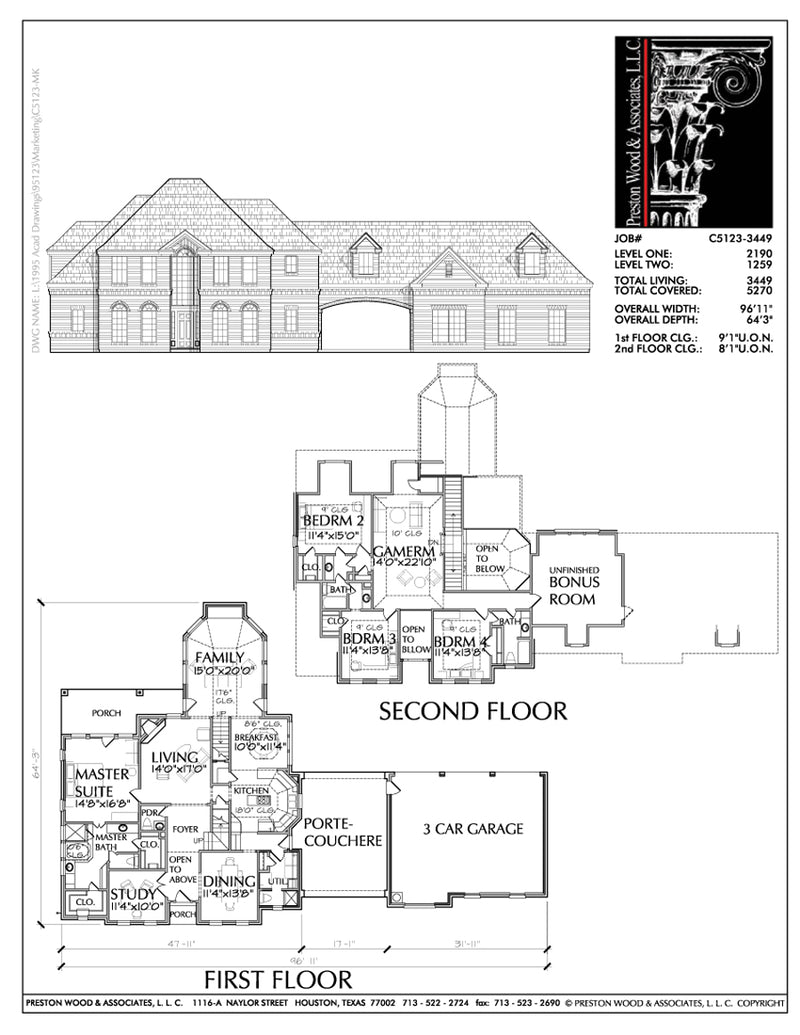 Two Story House Plan C5123