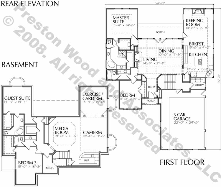 One Story Home Plan C9240