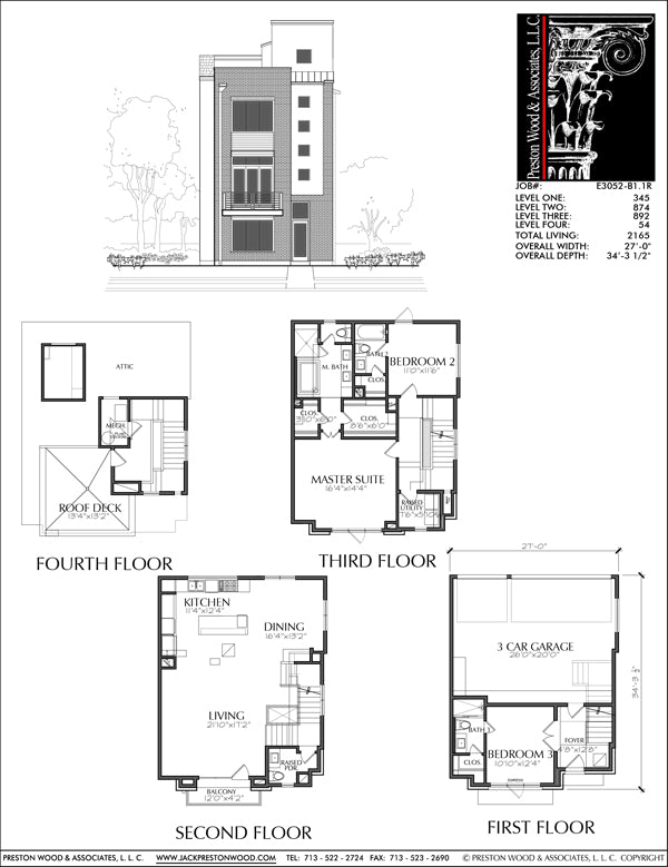 Townhouse Plan E3052 B1.1R