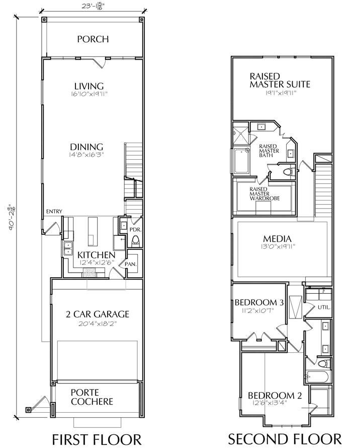 Townhome Townhouse Designs And Floor Plans House Storey