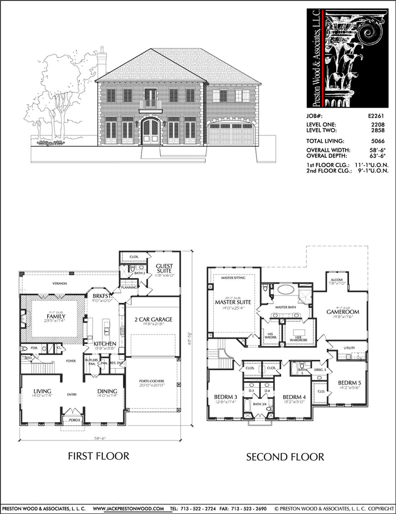 Urban House Plan E2261