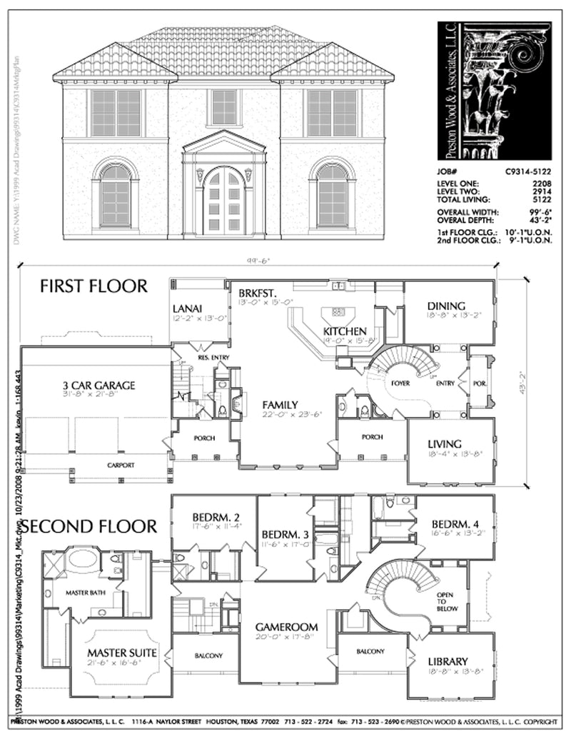 Urban House Plan C9314