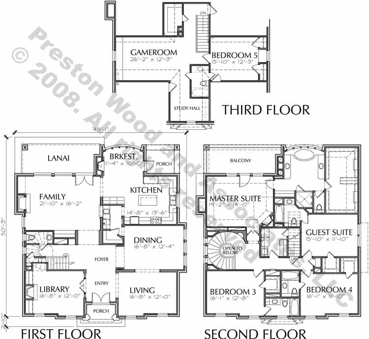 Colonial Home Plan C9250