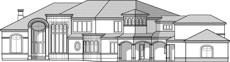 Two Story House Plan C8135