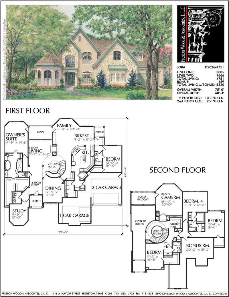 Two Story Home Plan D2026