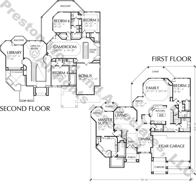 Two Story House Plan C9118