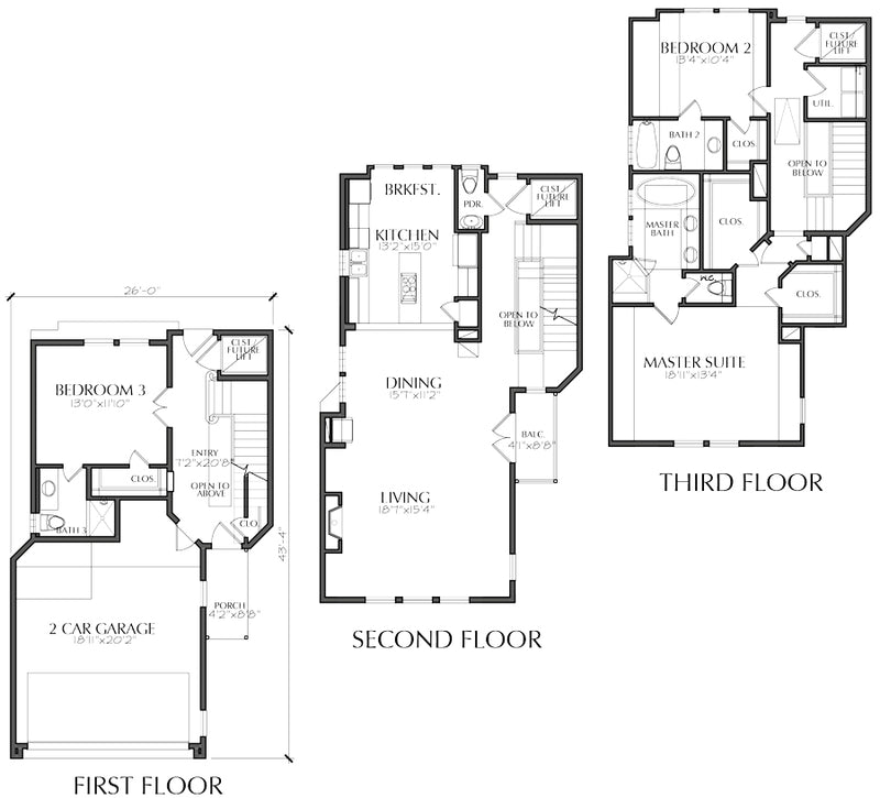 Townhouse Plan E3373 A1.1