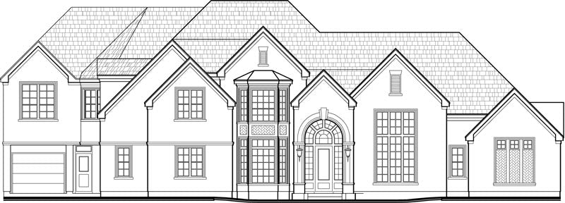 Two Story House Plan C9253