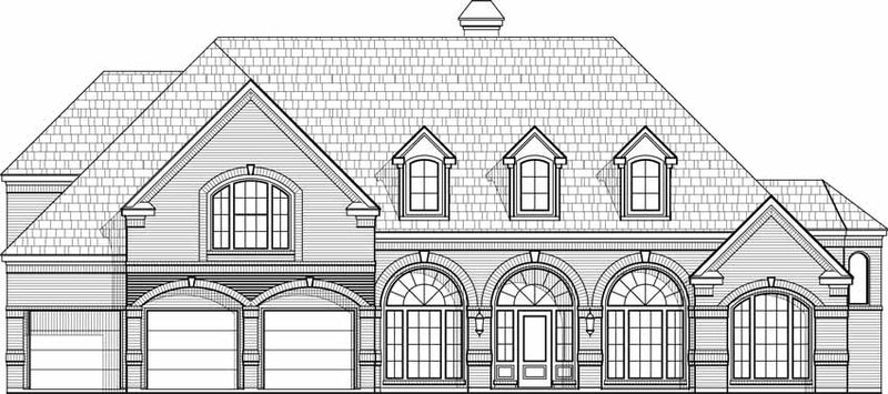 Two Story House Plan C5184