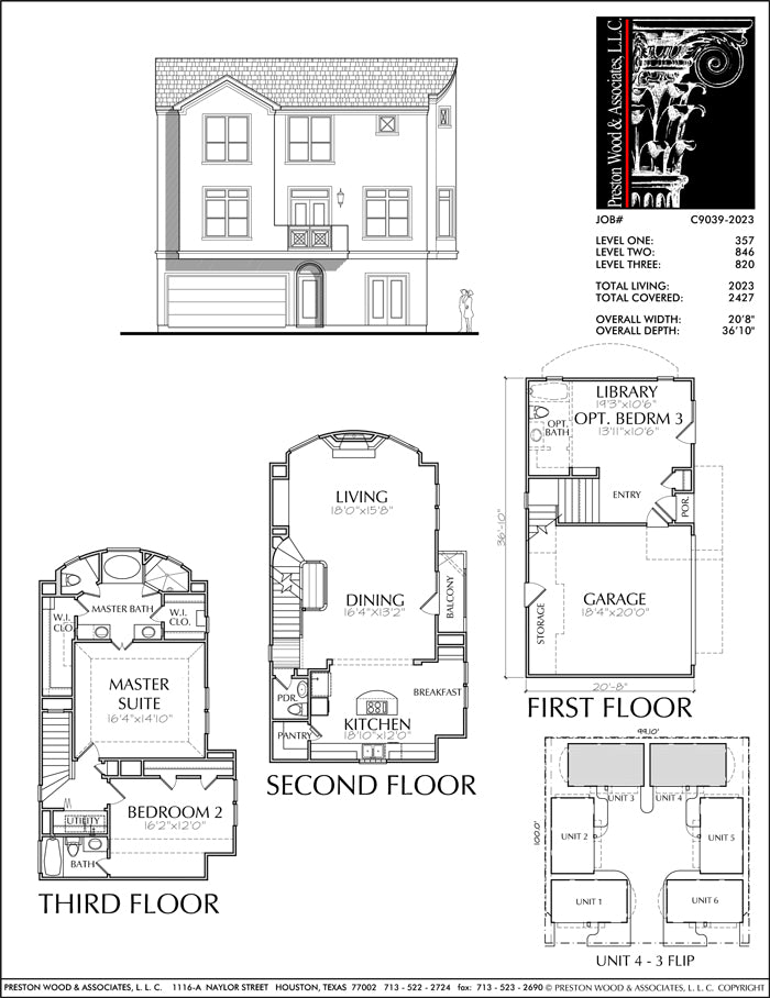 Townhouse Plan C9039-2023