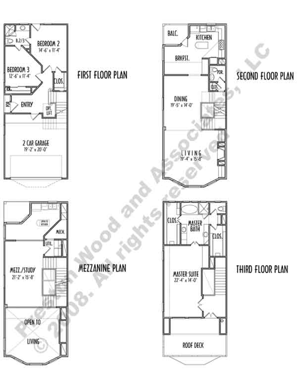 Duplex Townhouse Plan C9012 u4