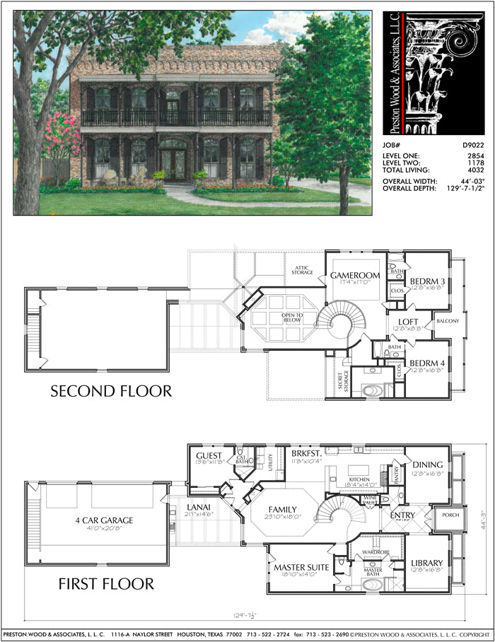 Two Story House Plan D9022