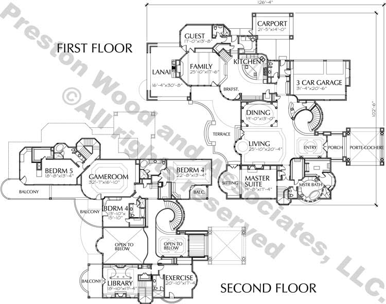 Two Story House Plan C7115