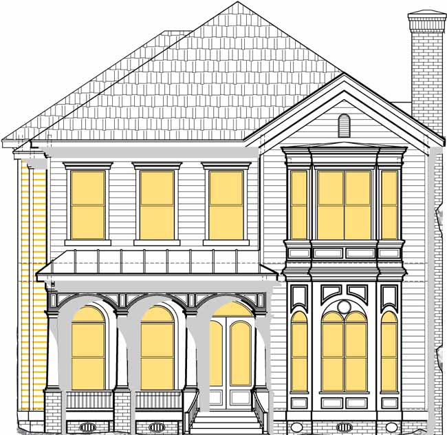 Two Story House Plan D5215