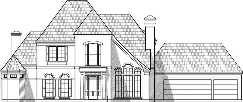 Two Story House Plan C6128