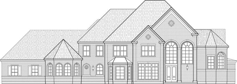 Two Story House Plan C7288