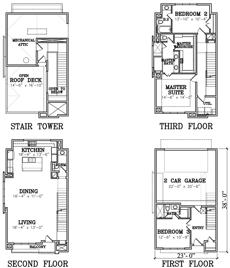 Townhouse Plan A0730 A1.1