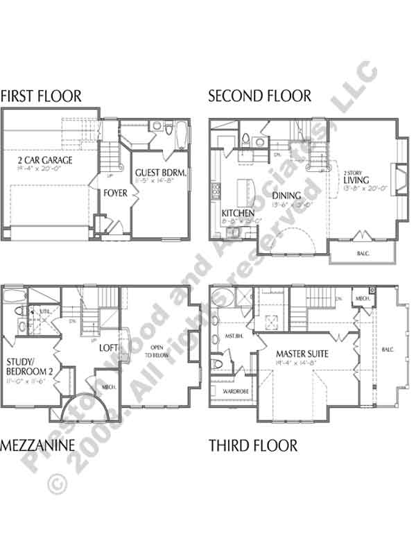 Townhouse Plan D1136