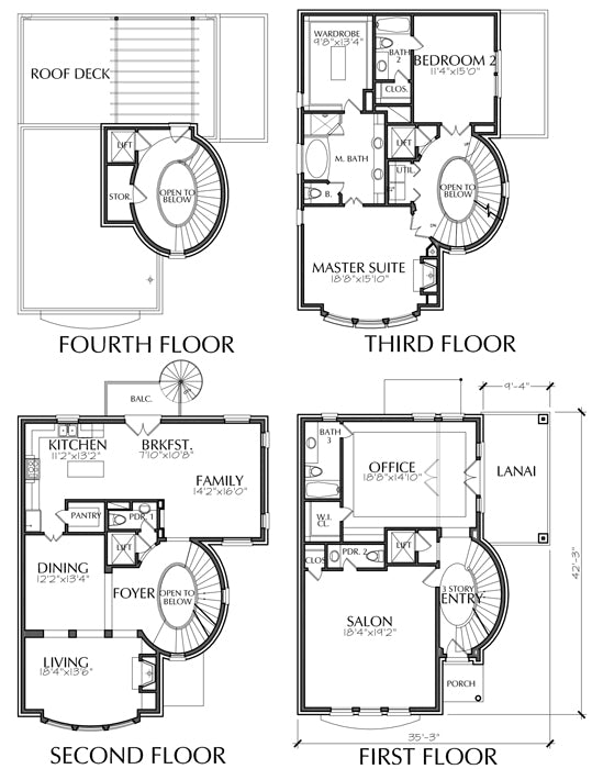 Townhouse Plan E3072