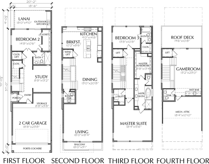 Townhouse Plan E2024 A1.1L