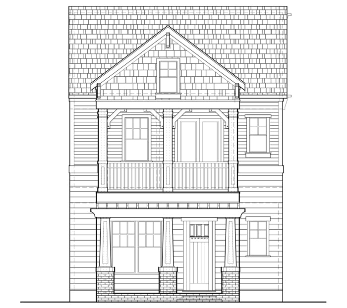 Townhouse Plan E2300 A2.2