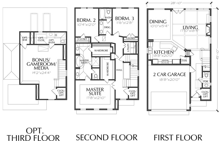 Townhouse Plan E0108 A2.1