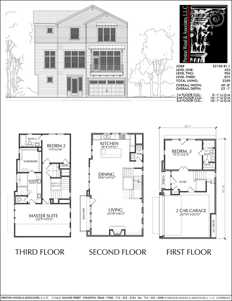 Townhouse Plan E2104 B1.1